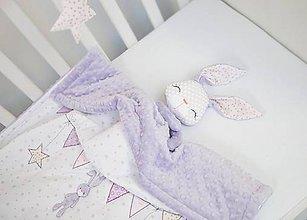 Textil - Deka pre dievčatko bielo-levanduľová - 10623176_
