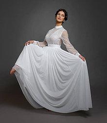 Sukne - Veľká nazbierkaná 3 vrstvová sukňa z elastického tylu - 10624181_