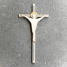 Dekorácie - Veľký Moderný Drevený Kríž - 10622309_