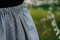 - midi sukňa kockovaná - 10625220_