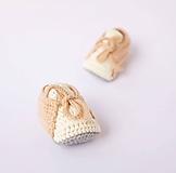 Topánočky - papučky na šnurovanie (Marhuľovo-béžová) - 10622422_