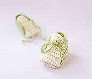 Topánočky - papučky na šnurovanie (Sviežo zelená) - 10622424_