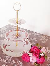 - etažér - ružové púčiky - 10622519_