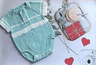 Detské oblečenie - pletené bavlnené body - 10623695_