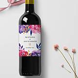 Papiernictvo - Etikety na svadobné víno - Divoké kvety - 10624389_