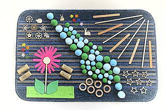 Detské doplnky - Senzomotorický koberec Jarná rieka - 10623784_