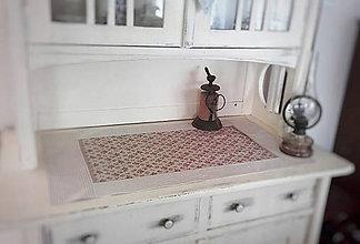 Úžitkový textil - Lněná růžičková štola - 10623672_