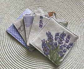 Úžitkový textil - Podšálky levanduové 5 ks - 10623979_