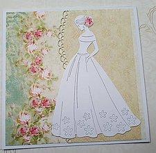 Papiernictvo - Svadobná pohľadnica - 10625297_