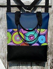"Batohy - ""backpack 3in1- circles in blue"" - Batoh & taška cez rameno - 10622429_"