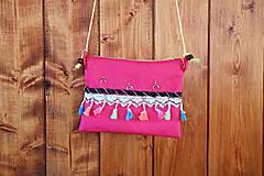 Kabelky - Malá kabelka PINK BOHO - 10623277_