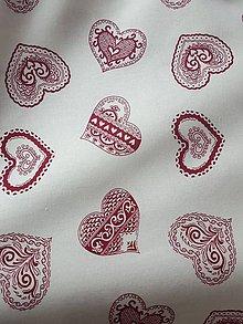 Textil - maľované folklórne srdiečka - 10623779_