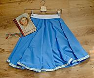 Detské oblečenie - Modrá kruhová suknička - 10624502_