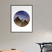 Grafika - Grafika Deň a noc (v kruhu) (skaly v noci) - 10624509_