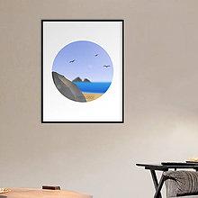 Grafika - Grafika Deň a noc (v kruhu) (pláž cez deň) - 10624522_
