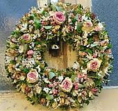 Dekorácie - Eukalyptový romantický veniec - 10628762_