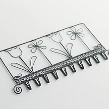 Dekorácie - vešiak s kvetmi na šperky.....10háčikov - 10626157_