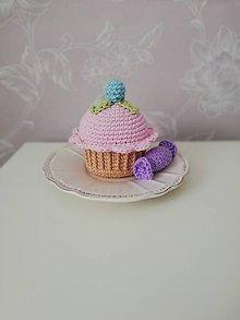 Hračky - Háčkovaný muffin - väčší - 10626918_