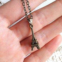 Náhrdelníky - Parisian Chic Necklace / Náhrdelník s Eiffelovou vežou /2083 - 10628223_