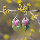 Náušnice - Náušnice Double Luxury - limetka a růžová - 10626194_