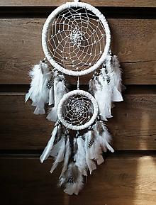 Dekorácie - Lapač snov - biely indián - 10627087_