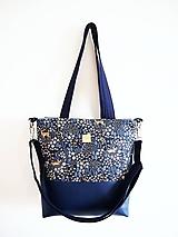 Veľké tašky - Veľká taška - srnky s tmavomodrou - 10627574_
