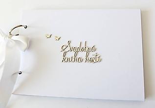 Papiernictvo - svadobná kniha hostí - 10626014_