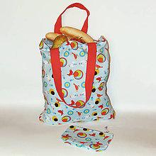 Nákupné tašky - Nákupná taška - Vtáčí úlet v modrom - 10628138_