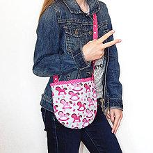 Detské tašky - Detská taška na rameno - Ružová s koníkmi - 10628176_
