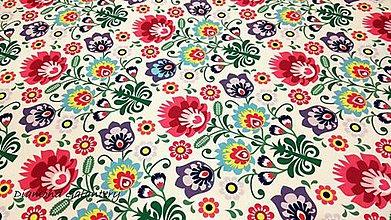 Textil - Bavlna režná - Folk II- cena za 10 cm - 10628168_