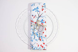 Úžitkový textil - Set štyroch textilných akvarelových prestieraní - Šípky - 10626066_
