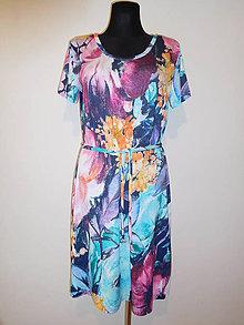 Šaty - Abstraktné kvety - 10627853_