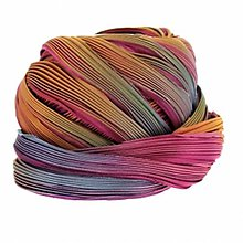 Galantéria - Hodvábna stuha Shibori Tropical pink Borealis - 10626173_