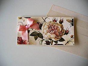 Papiernictvo - darovacia obálka vintage - 10627290_