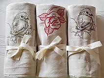 Úžitkový textil - ľanové utierky - 10626196_