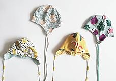 Detské čiapky - obojstranná čiapočka na viazanie - 10628874_