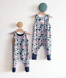 Detské oblečenie - Háremkový overal Geometria - 10628858_