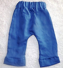 Detské oblečenie - Nohavice ľanové - 10628128_
