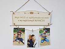 Dekorácie - Drevená tabuľka moje deti 30x11cm - 10626140_