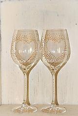 """- svadobné poháre """"minimalistické"""" - 10628334_"""