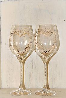 """Nádoby - svadobné poháre """"minimalistické"""" - 10628334_"""