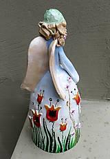 """Socha - """"Tulipánka """" - maľovaný zvonec - 10626399_"""
