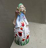 """Socha - """"Tulipánka """" - maľovaný zvonec - 10626400_"""