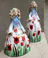 """Socha - """"Tulipánka """" - maľovaný zvonec - 10626403_"""