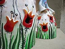 """Socha - """"Tulipánka """" - maľovaný zvonec - 10626404_"""
