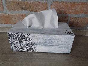 Krabičky - Drevená krabička na servítky - 10628853_