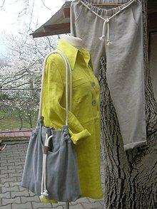 Veľké tašky - Ľanová taška pre pohodu ;) - 10627164_