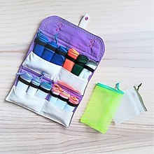 Nákupné tašky - Nákupná súprava vreciek na zeleninu - big family (Fialová / natur) - 10627490_