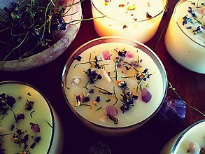 Svietidlá a sviečky - Fialková záhrada s ametystom - 10627226_