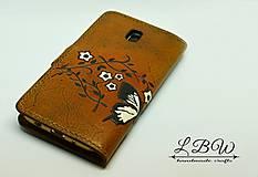 Na mobil - Kožené puzdro na smartfón - 10626063_